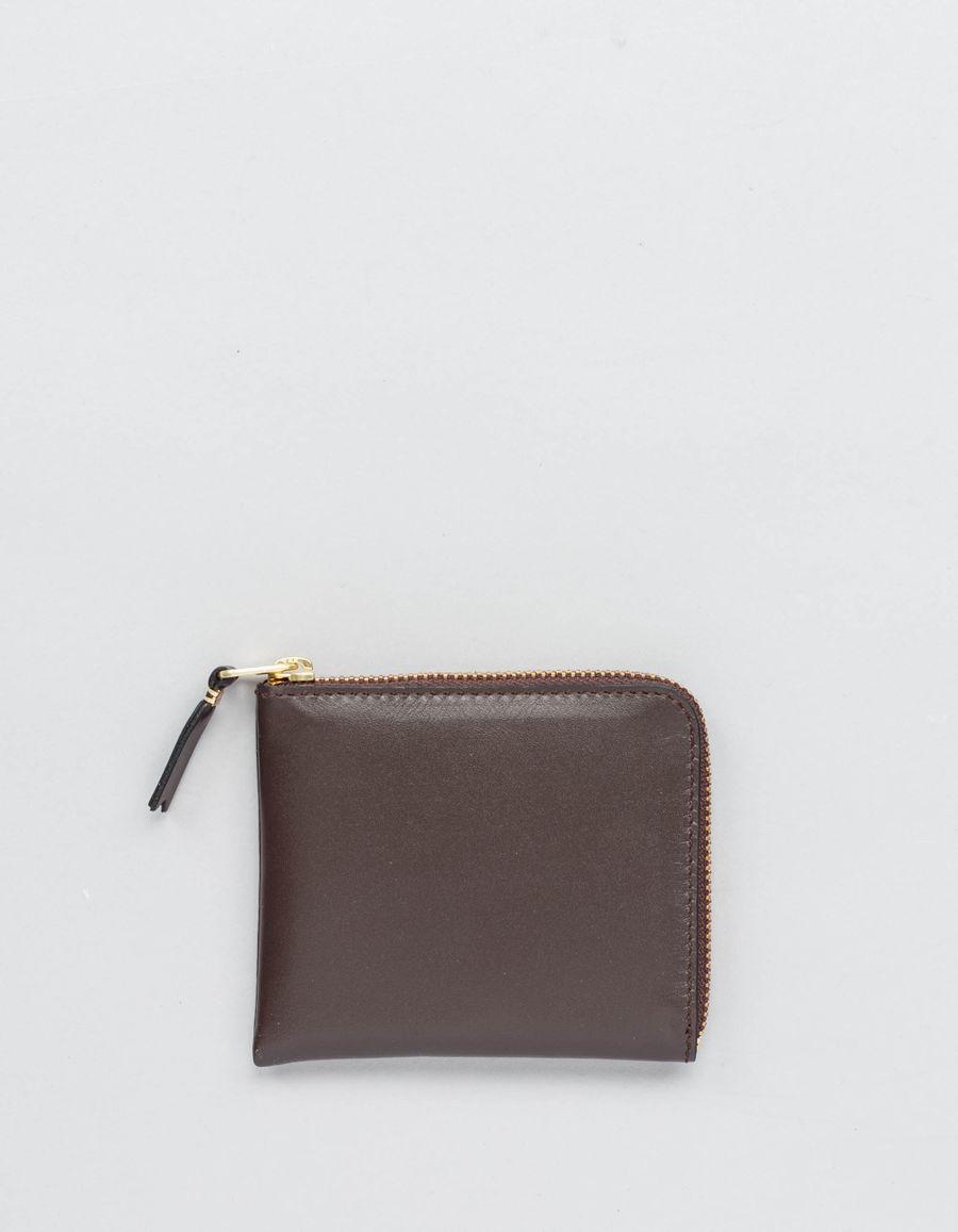 Half Zip Wallet Brown