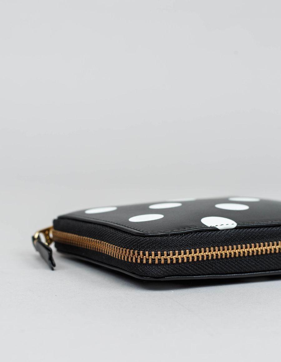 Full Zip Classic Wallet -Dots Black