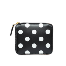 Comme des Garçons Wallet Full Zip Classic Wallet -Dots Black - Black