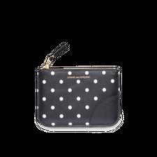 Comme des Garçons Wallet Rounded Zip Case -Dots Black - Black
