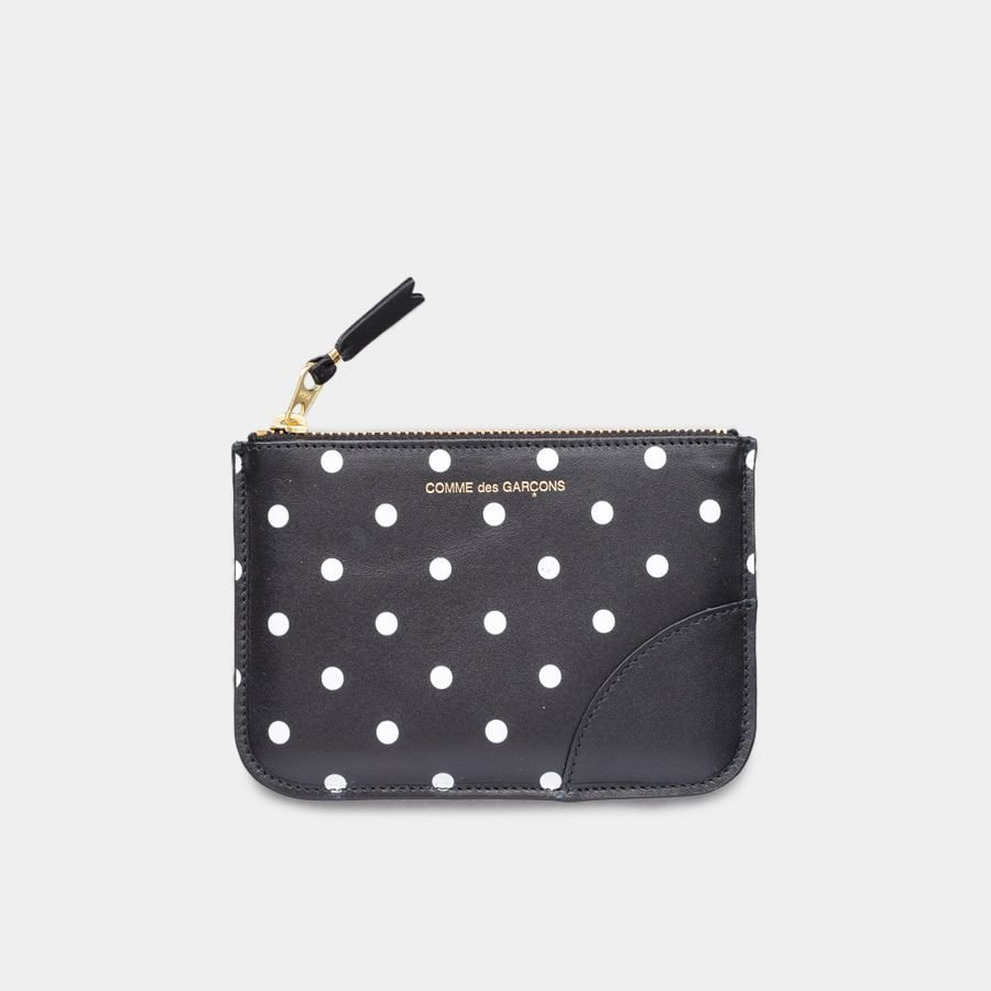 Rounded Zip Case -Dots Black