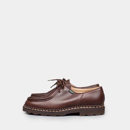 Michael Grain Moc Toe Shoe Dark Brown