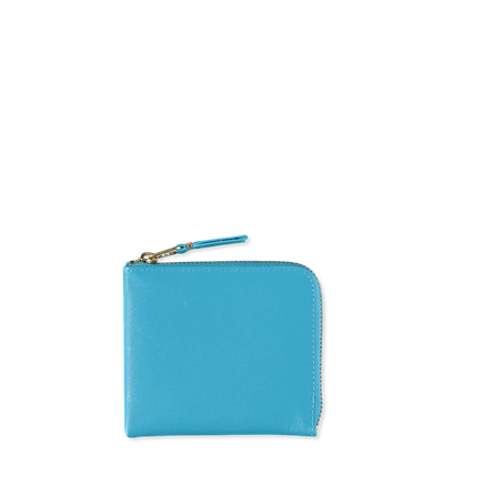 Half Zip Wallet Blue