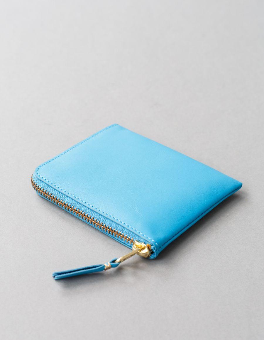 Half Zip Wallet Blue