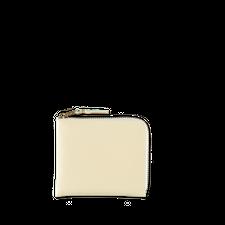 Comme des Garçons Wallet Half Zip Wallet Off-white - Offwhite