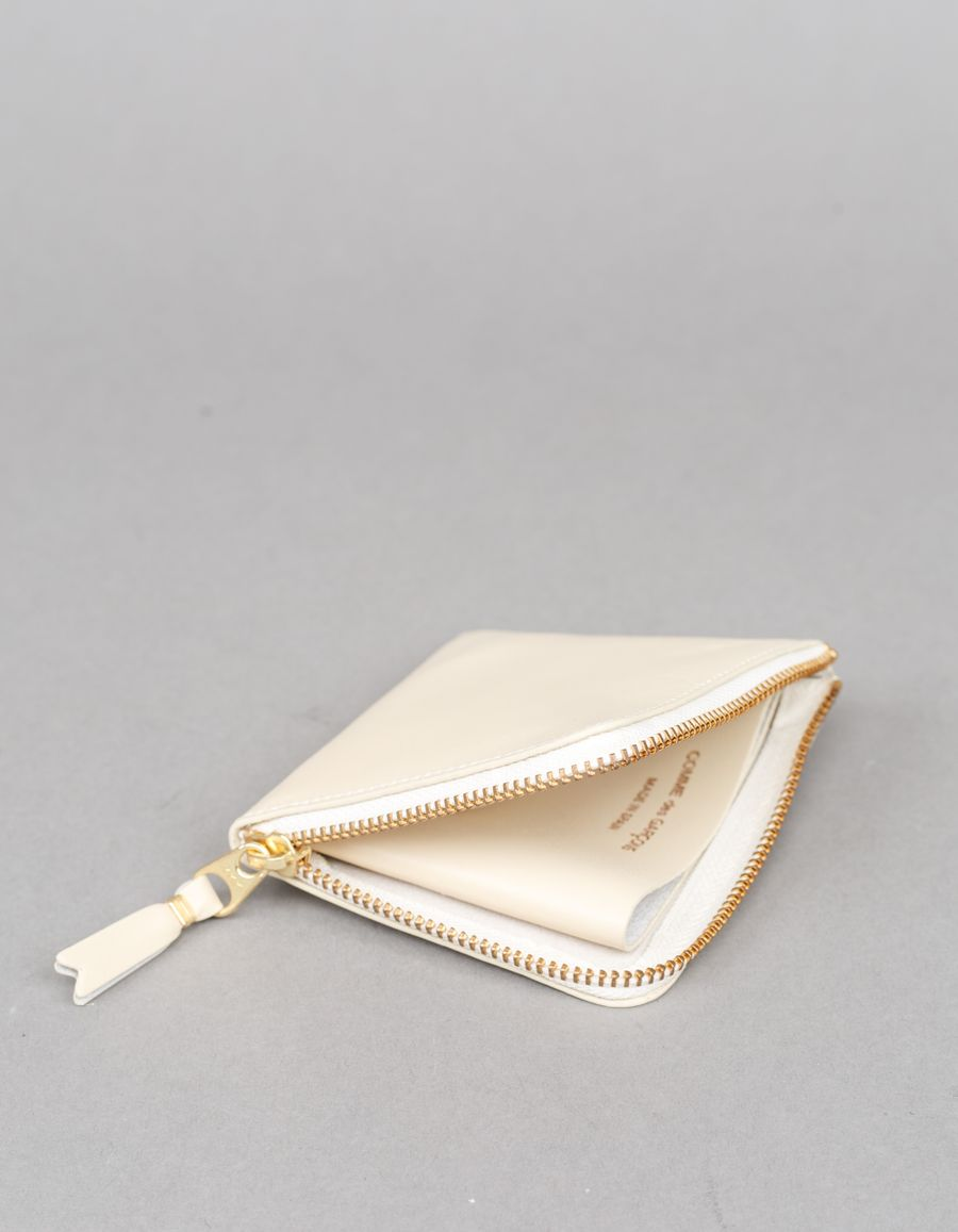 Half Zip Wallet Off-white