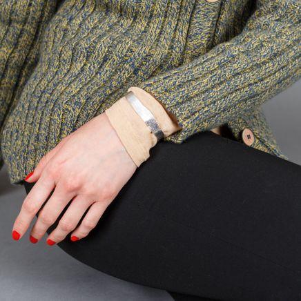 Molded Wrist Cuff Slvr Plated