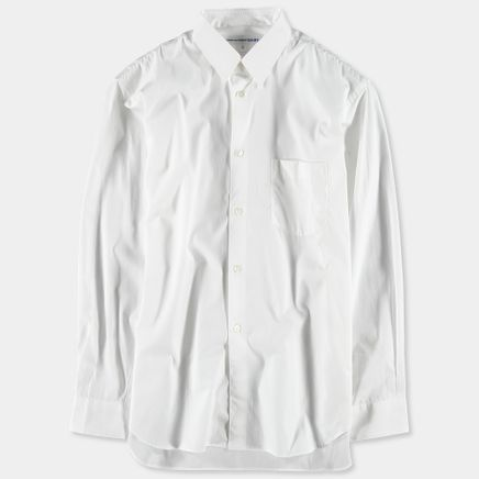 Narrow Classic Poplin Shirt White