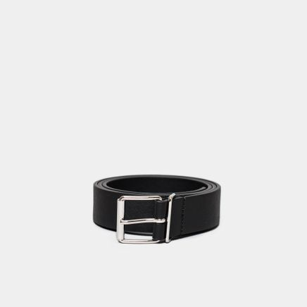 Caviar Leather Belt Black