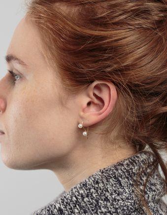 Triptych 2 Pearl Earring 14k