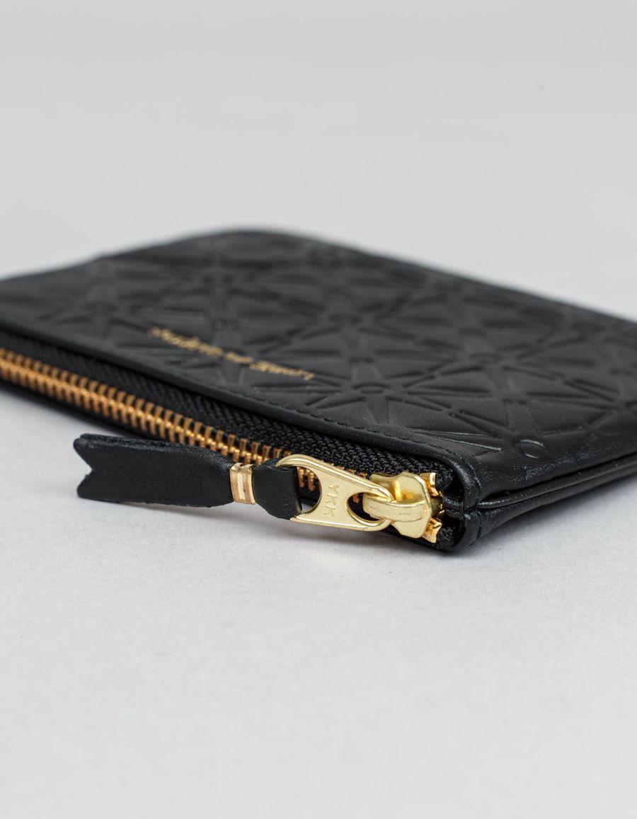 Rounded Zip Case - Stars Black