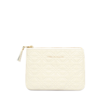 Comme des Garçons Wallet Rounded Zip Case - Stars Off-white - Offwhite