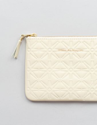 Rounded Zip Case - Stars Off-white