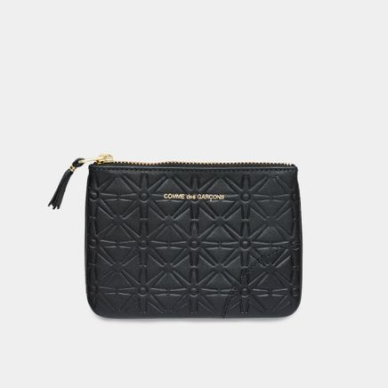 Rounded Zip Case - Stars Black