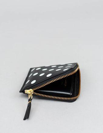 Half Zip Wallet - Dots Black