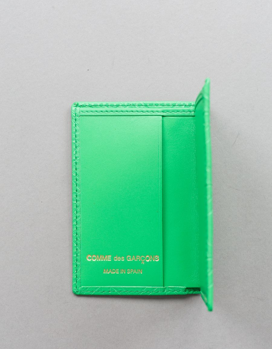 Small Card Case - Stars Green