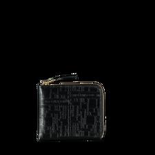 Comme des Garçons Wallet Half Zip Wallet - Logo - Black